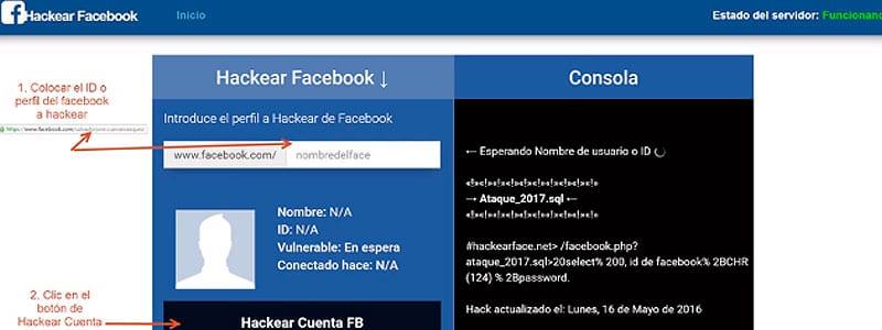 hackear una cuenta de facebook gratis