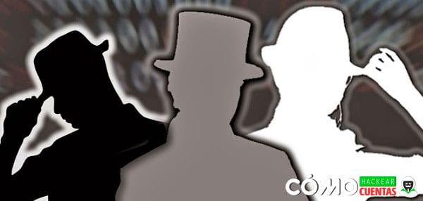 hackers sombrero gris negro
