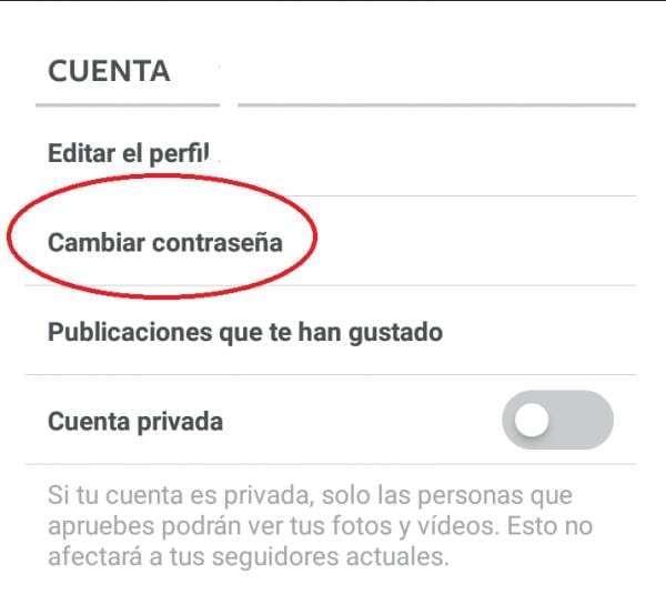 CAMBIAR CONTRASEÑA PASSWORD INSTAGRAM